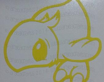 Final Fantasy Baby Chocobo Vinyl Decal