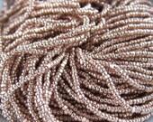 2-6 Strands-13/0 Rose Gold Terra Metallic Charlotte Glass Czech Seed Beads -1 Cut-One Cut-True Cut.