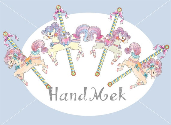 merry go round horse template - carousel set clipart cute carousel horse ride clip art