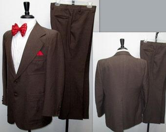 Vintage 70s Mens Suit, 70s Disco Suit,  Vintage Anchorman Suit, Two Piece Suit
