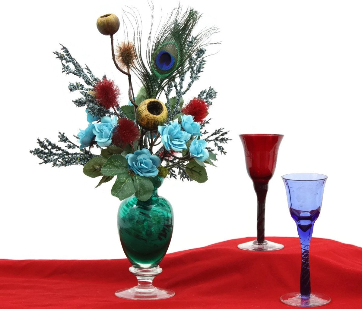 Accent Table Centerpiece Silk Flower Arrangement By