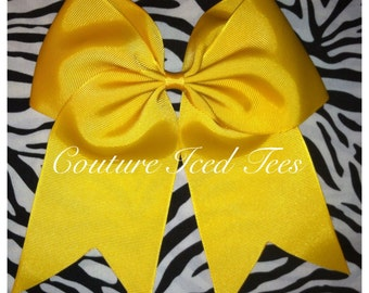 "3"" Yellow/GoldCheer Bow"