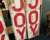 Christmas Pallet Wood Sign | Rustic JOY Sign | Distressed Art