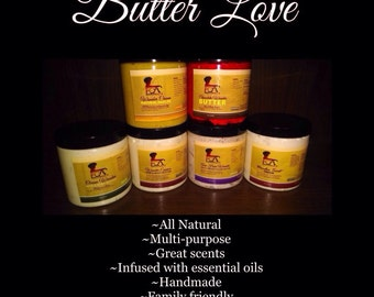All natural butters for your hair and body!