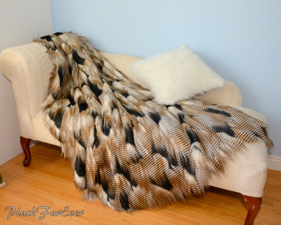 Feather Faux Fur Most Luxurious Fur In Stock Gold By