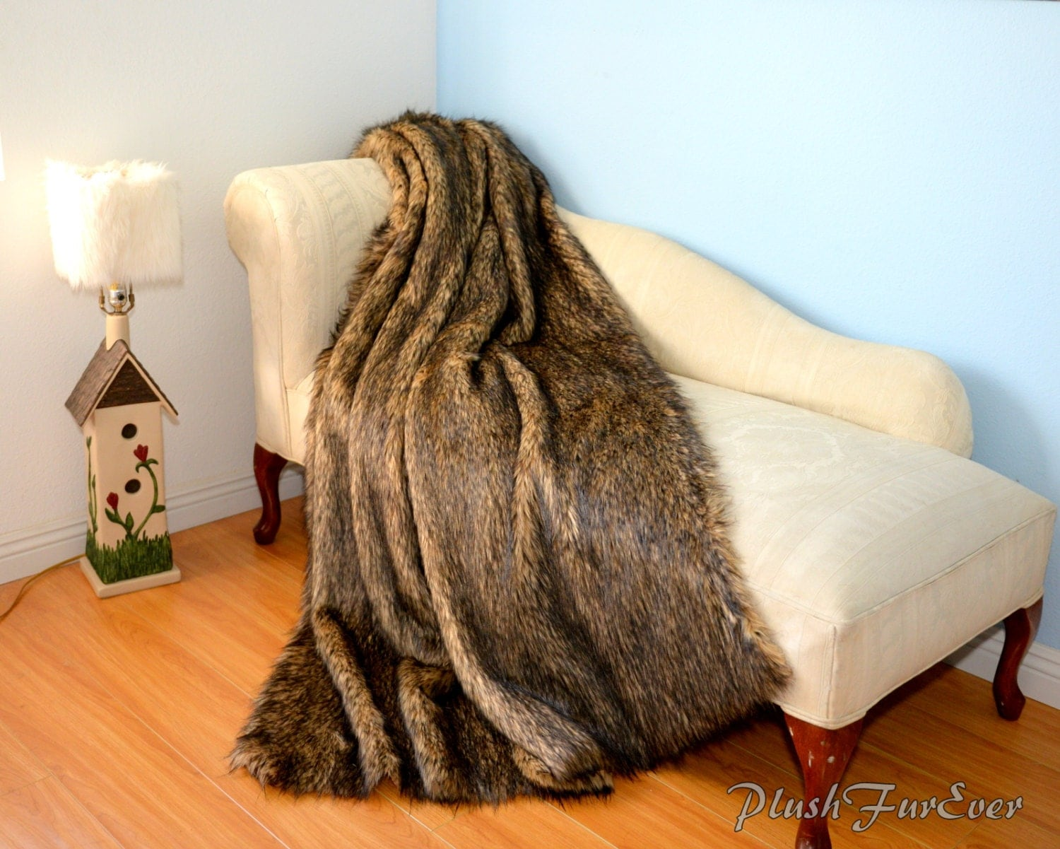 Jody fox faux fur throws blanket comforters sofa couch bed for Fur throws for sofas