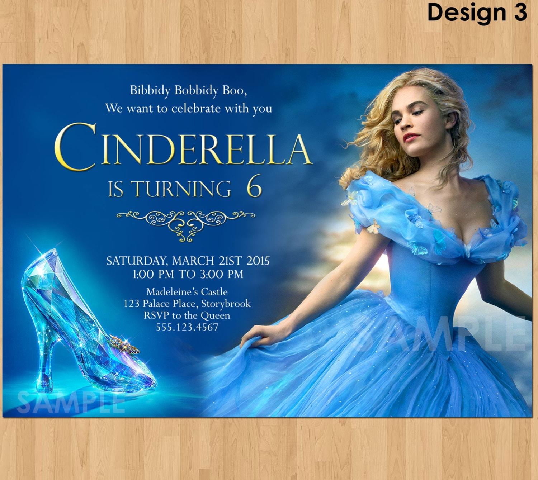 Cinderella Invitation Cinderella Movie Invitation Printable