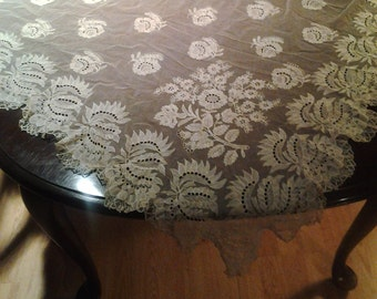 Vintage sheer tablecloth from decorators collection