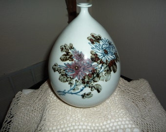Oriental Floral Vase