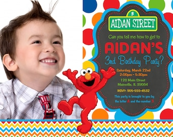 Elmo Birthday Party Invitation - Digital File