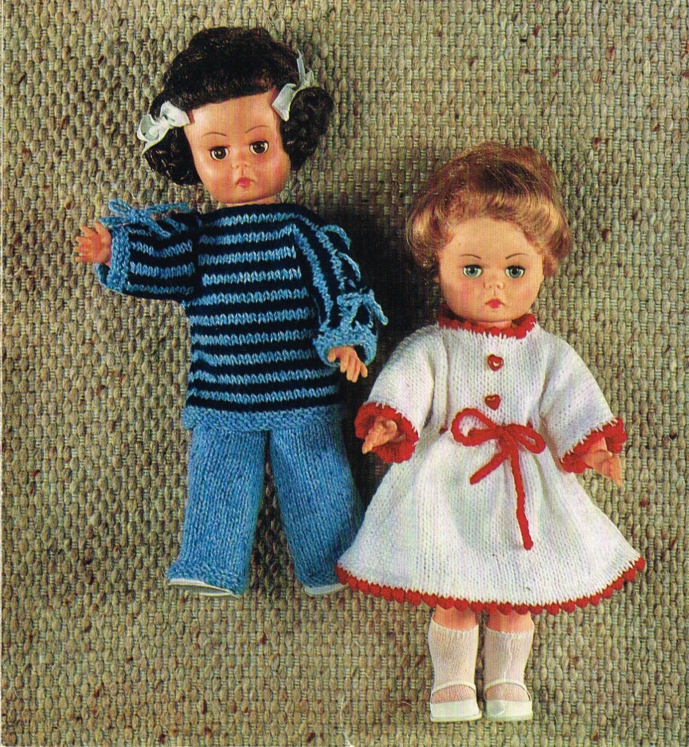 Vintage Knitting Patterns Dolls Clothes : Dolls clothes knitting pattern.14 doll.New Born