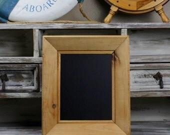 CHALKBOARD, Aged Wood Framed Chalkboard Distressed Frame Home Decor Wedding Decor Beach Cottage Framed Chalkboard
