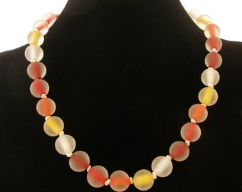 Murano glass necklace, glass jewelry, beaded necklace, Made in Italy