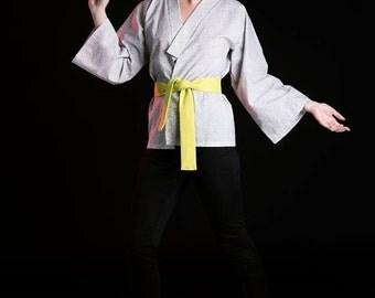 ON SALE! Women Kimono; Cotton Kimono; Printed Kimono; Black and White Kimono; Bobble Printed Kimono; Short Kimono; Women Top