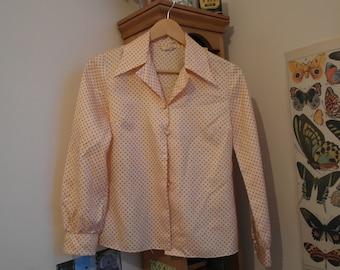 Orange Polka-dot 70s shirt
