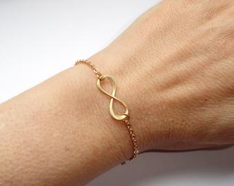 Infinity bracelet, Gold infinity bracelet, Infinity bracelet UK, Gifts, Minimalist jewelry, Infinity jewelry Minimalist bracelet