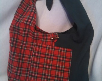 Green and Red Plaid Hobo Purse