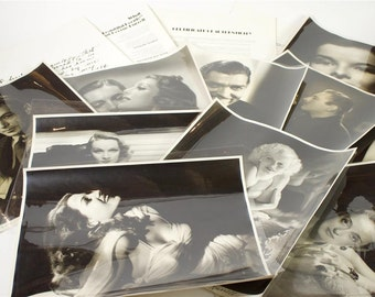 """George Hurrell """"Signed""""16x20 Suite of 10 Original Hollywood Celebrity Photographs-Rare"""