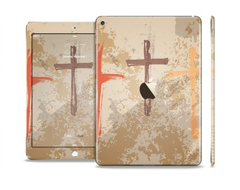 The Tan Splattered Color-Crosses Skin Set for the Apple iPad (All Models Available)