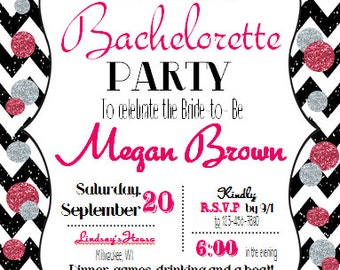 Sparkly bachelorette invitation!
