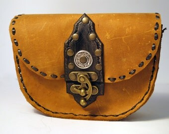 Soft leather purse/black