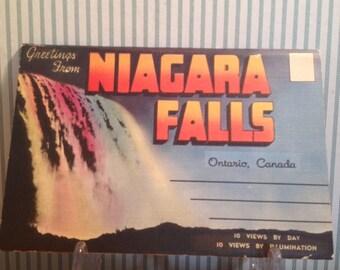 Vintage Niagara Falls Canada Postcard Folder