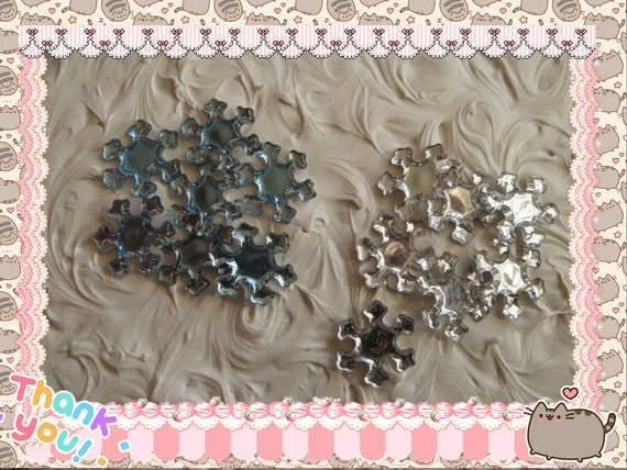 0: )- CABOCHON -( Sweet Snowflakes STICKY BACK