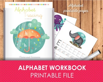 Alphabet Tracing Letters Printabe Pages, Alphabet Activities, Alphabet learning, Letter Tracing, Traceable Alphabet Worksheets