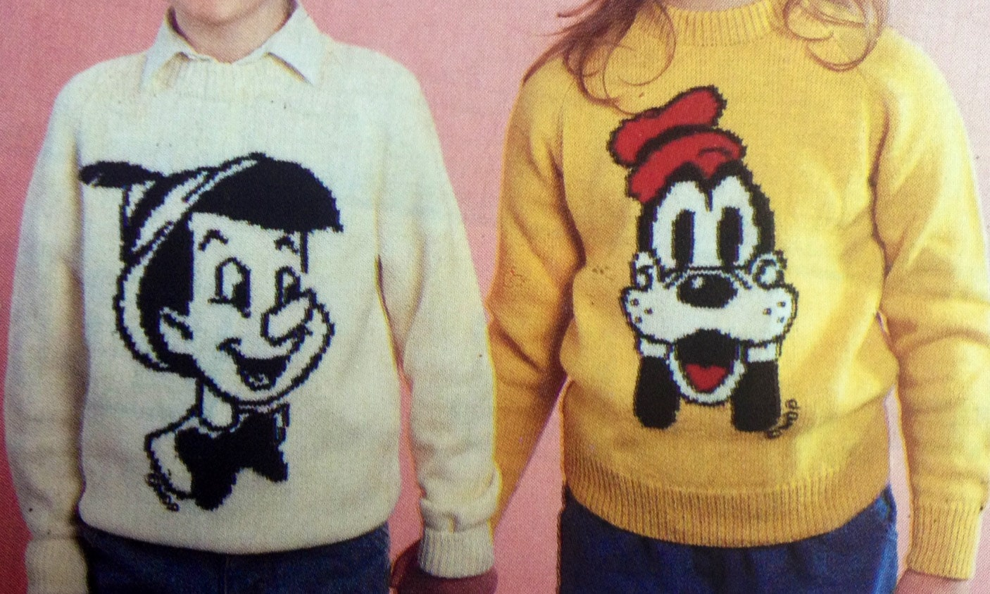 Knitting Pattern For Rat Sweater : mickey and minnie mouse knitting pattern sweaters for by ...