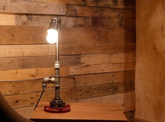 Industrial gas pipe table lamp desk lamp tl 21 by 5280made for Gas pipe desk lamp