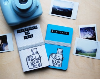 Instax Journal with customizable label / Travel Journal / Anniversary Gift