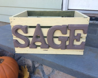 Shabby Wood Crate Personalized with Name