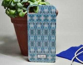 Blue Aztec Pattern iPhone Hard Case