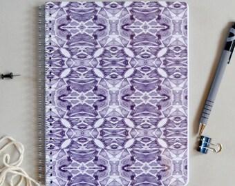 Purple Symmetry Pattern Notebook