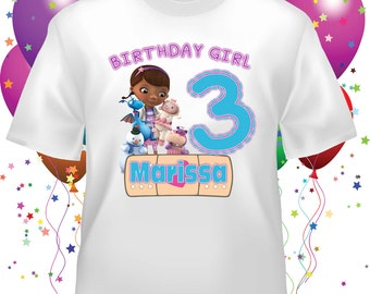 Personalized Doc McStuffins Birthday Shirt - tshirt custom