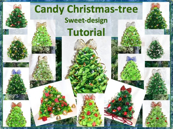 Tutorial candy christmas tree pdf diy table decoration sweet