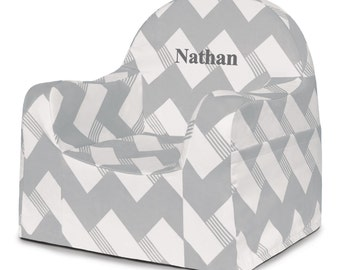 P'kolino Personalized Chevron Little Reader Chair (add name to be personalized in Notes)