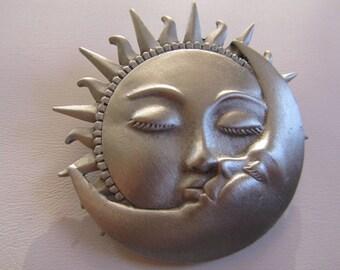 JJ Jonette Silver Pewter Sun Kissing The Moon