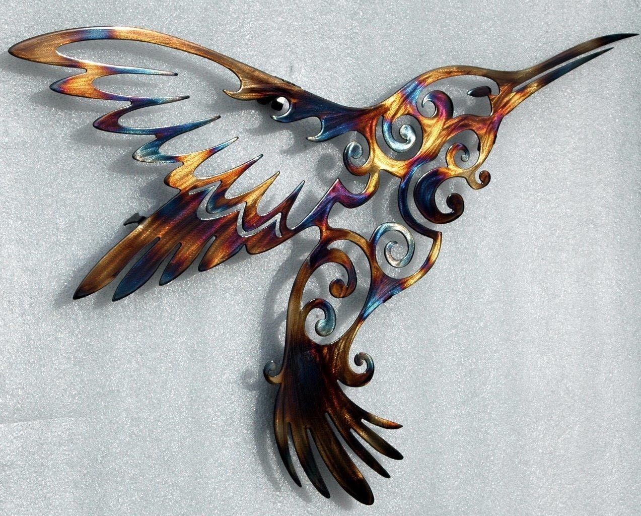 Large Hummingbird Metal Wall Art Metal Wall Decor
