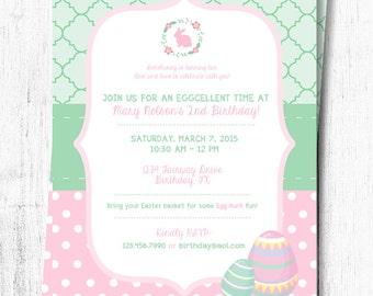 Easter Birthday Invitation - Girl - 5x7
