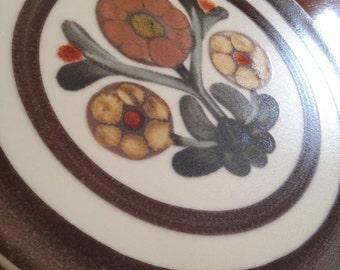 "Vintage Langley Pottery ""Mayflower"" Stoneware Trivet 1960s"