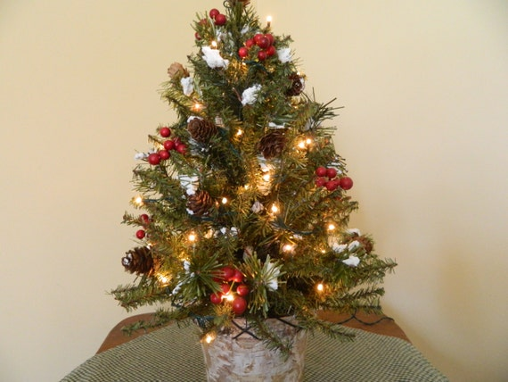 Decorated Pre-lit Tabletop Christmas Tree