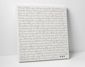 Calligraphy Wedding Vows on Canvas