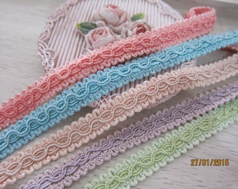 "1yard-Chinese braid Trim/NT50-Fancy Trim/Pastey color Trim/0.05"" Embroided Trim/Lace Trim"