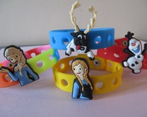 Frozen Characters Jibbitz Wristband and Charm - wrist bands - - party favors, birthdays, Christmas gifts
