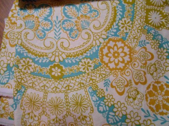 Destash dear stella linen 94 in multi dehli fabric fat for Yellow baby fabric