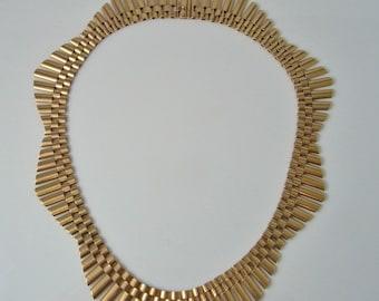 Art Deco Necklace Art Deco Collar Antique Choker Gold Choker Handmade Necklace 9K Gold Chain Unique Necklace Retro Necklace 1920s Necklace