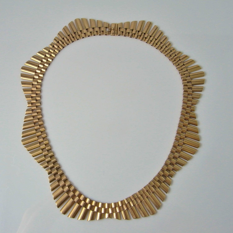 Art Deco Halskette Art Deco Kragen Antik Gold Collier