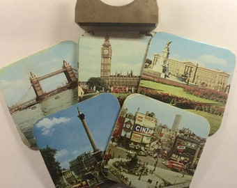 Vintage English souvenir coasters