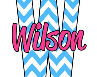 "Chevron Car Decal 5"" inch Personalized Monogram Car sticker decal - Car Decal Monogram"